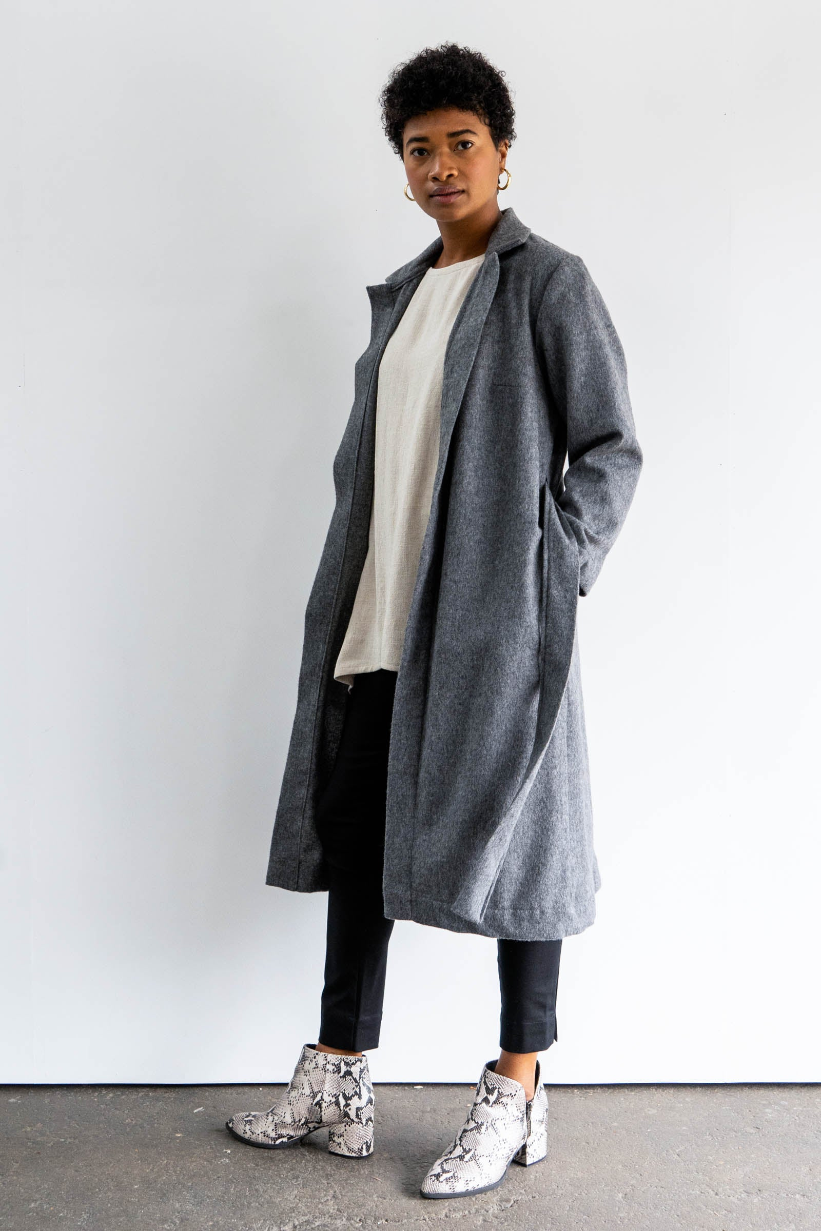 Fern Trench in Midweight Wool