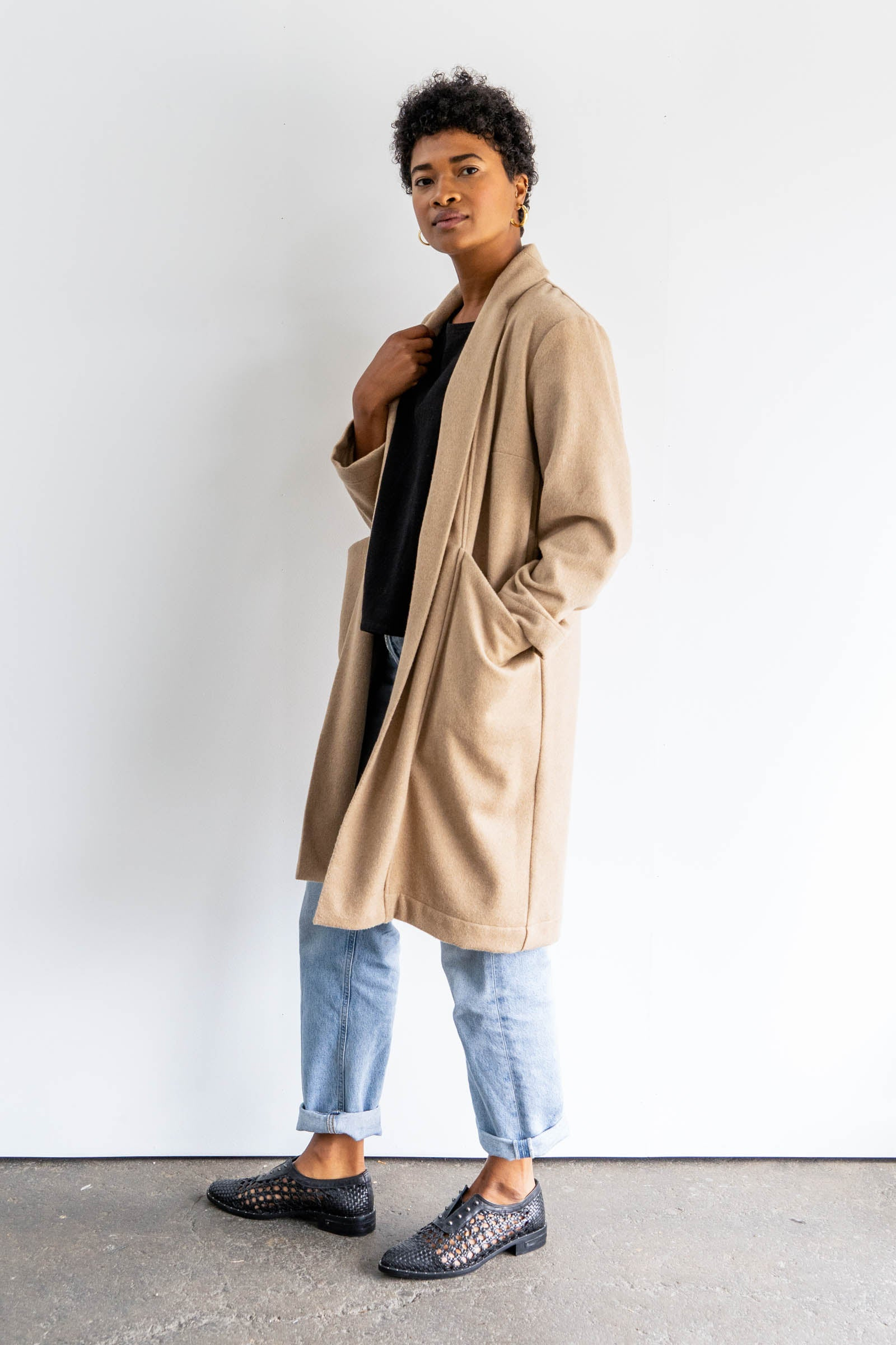 Cardiff Trench in Midweight Wool