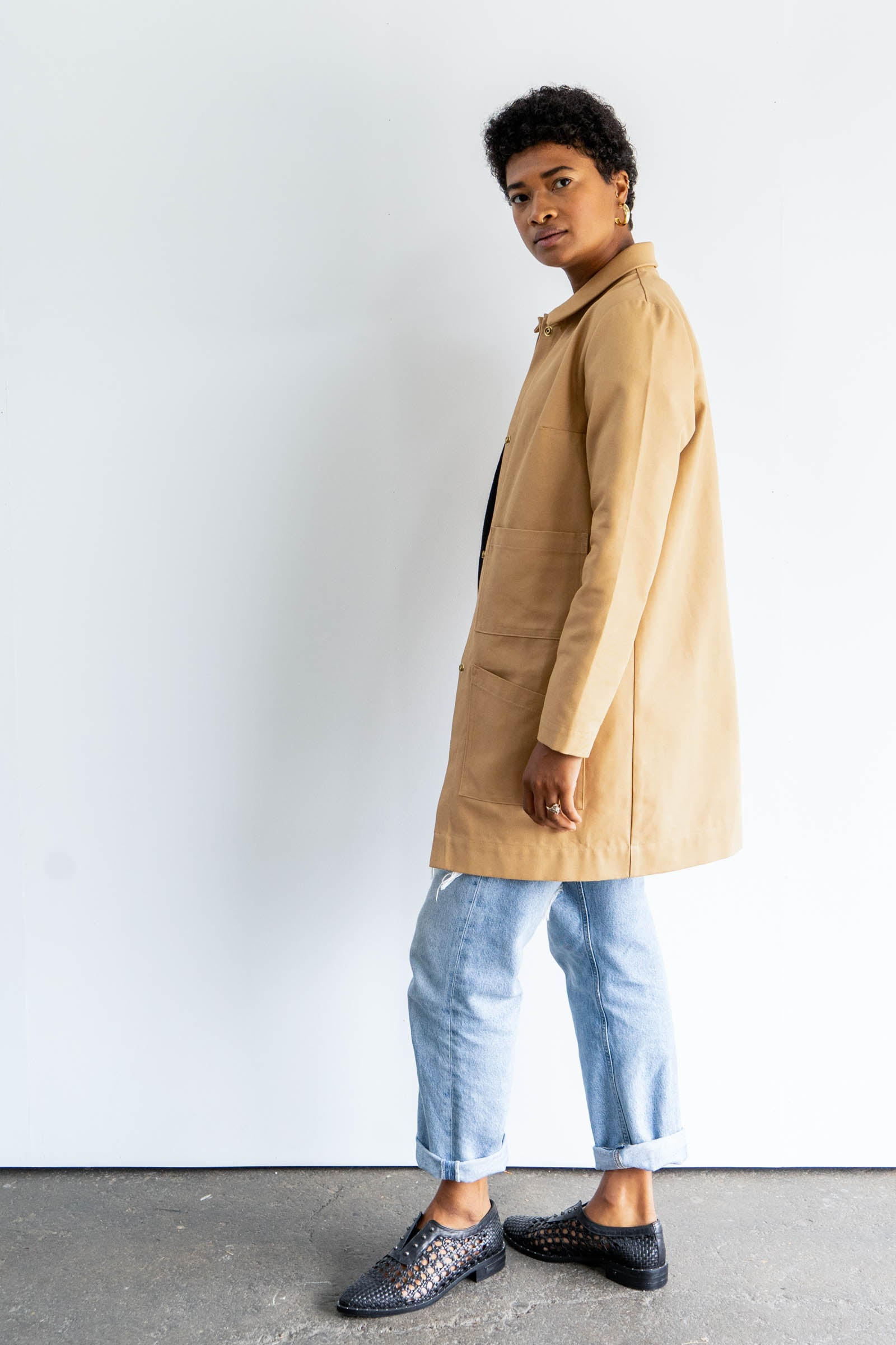 Penny Chore Coat in Cotton Canvas