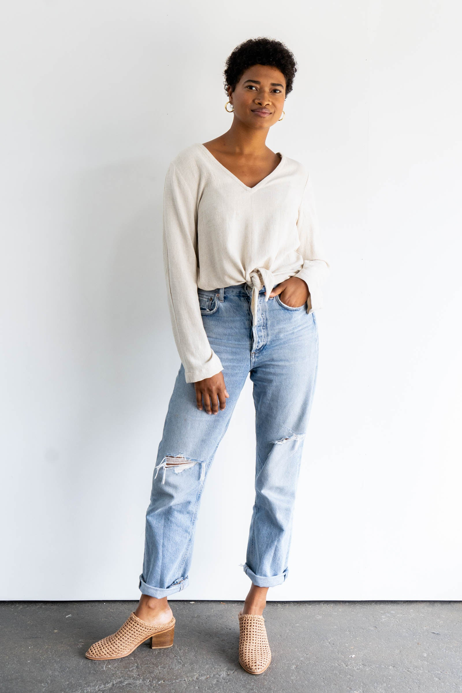 Luzon Long Sleeve Top in Cotton