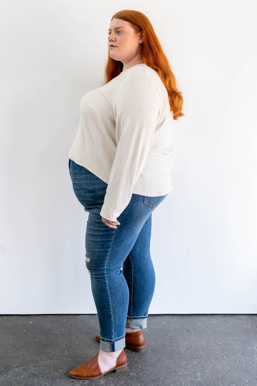 Avery Long Sleeve Top in Cotton
