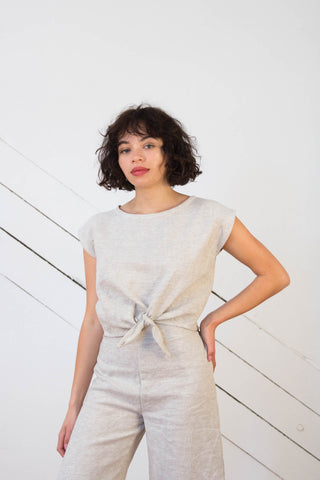 Alameda Top in Linen Gauze