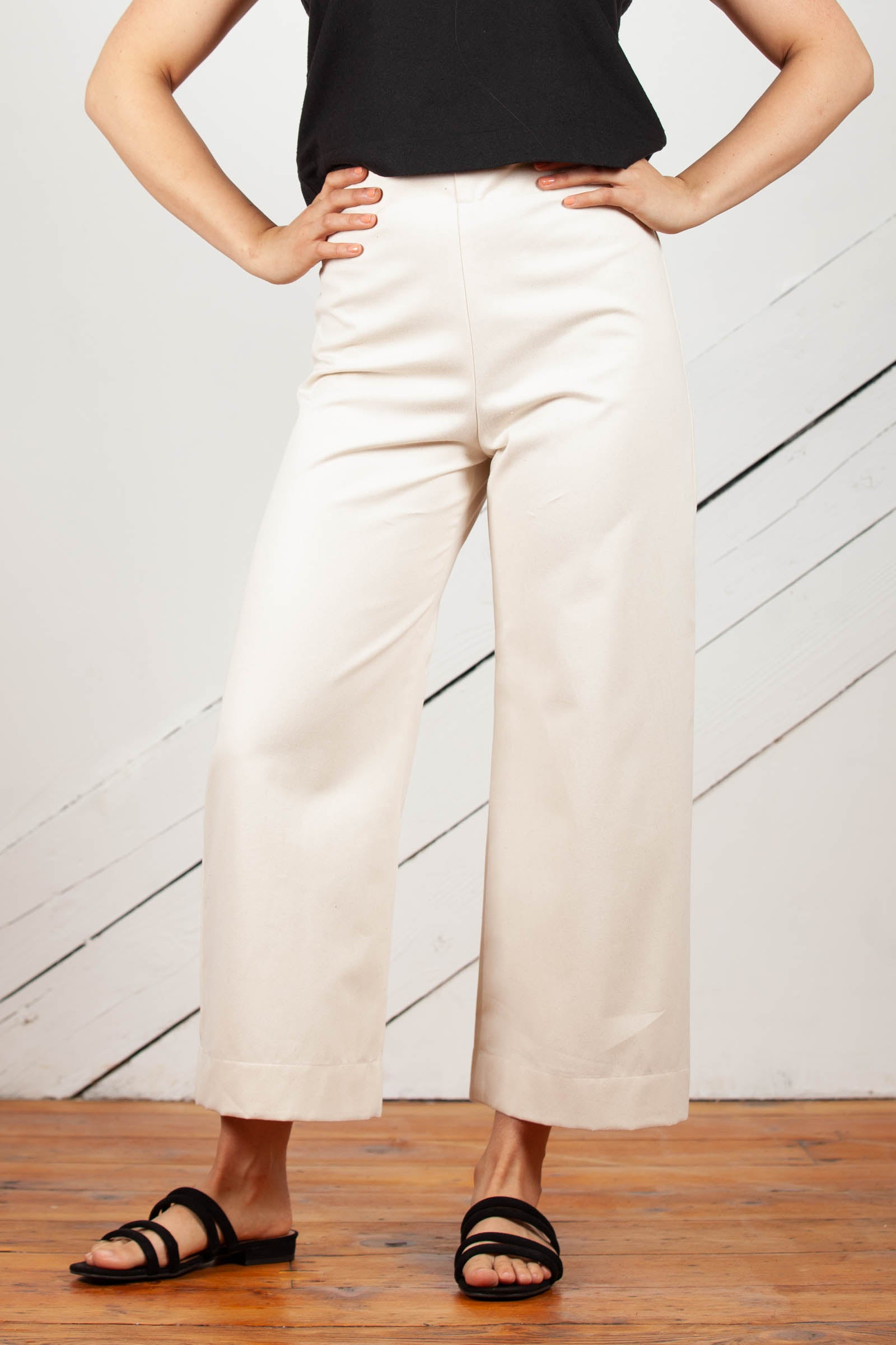 Dune Pants Wide Leg Pants in Cotton Twill
