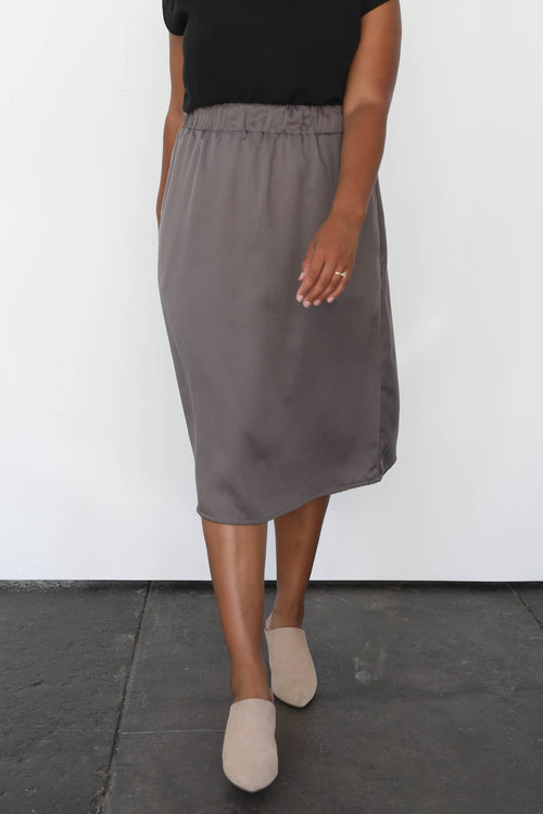 Marion Midi Skirt in Tencel