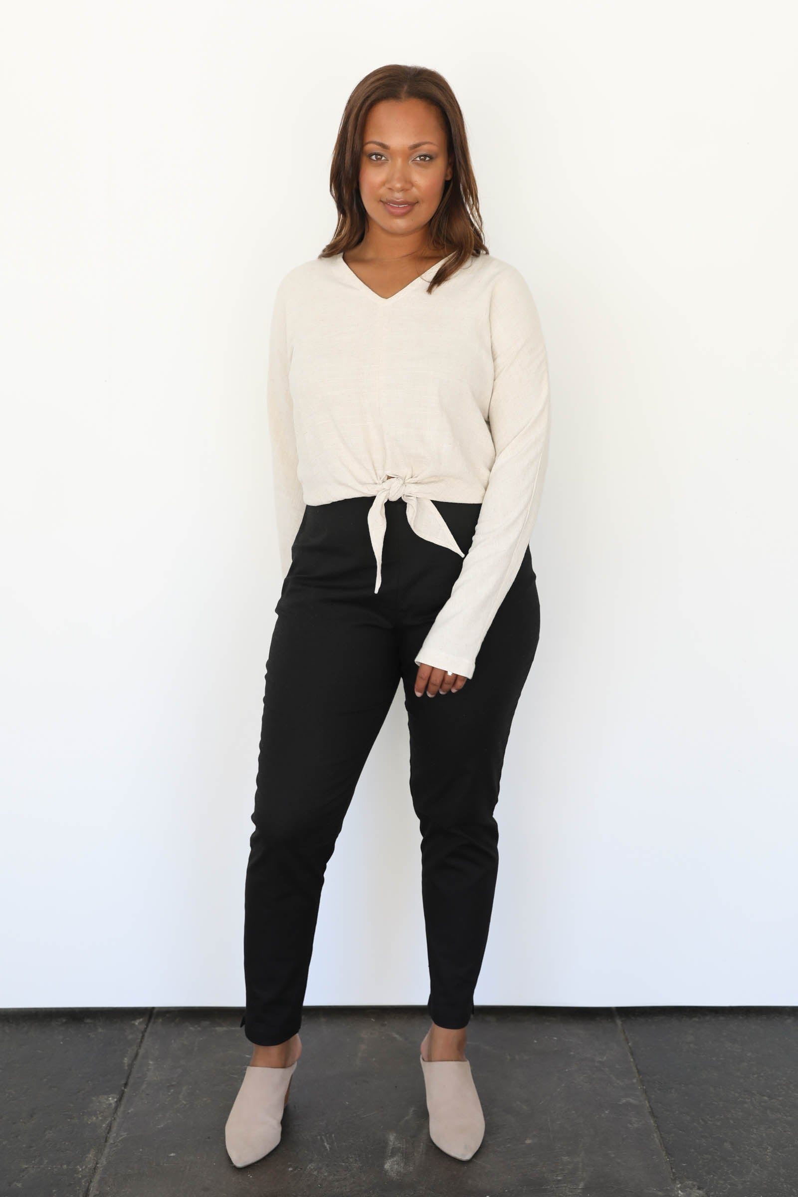 Virginia Skinny Pants in Stretch Cotton