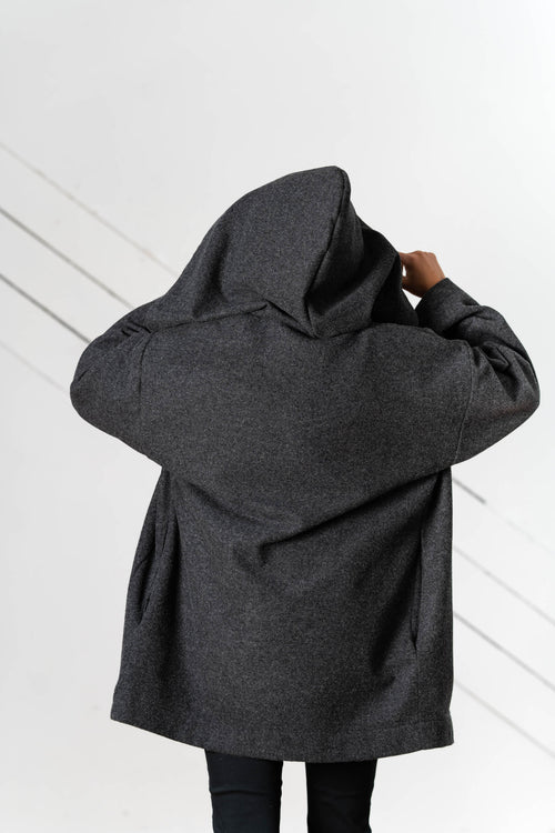 Sonora Hooded Coat in Midweight Wool