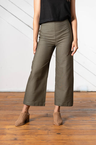 Sierra Wide Leg Pants in Cotton Canvas