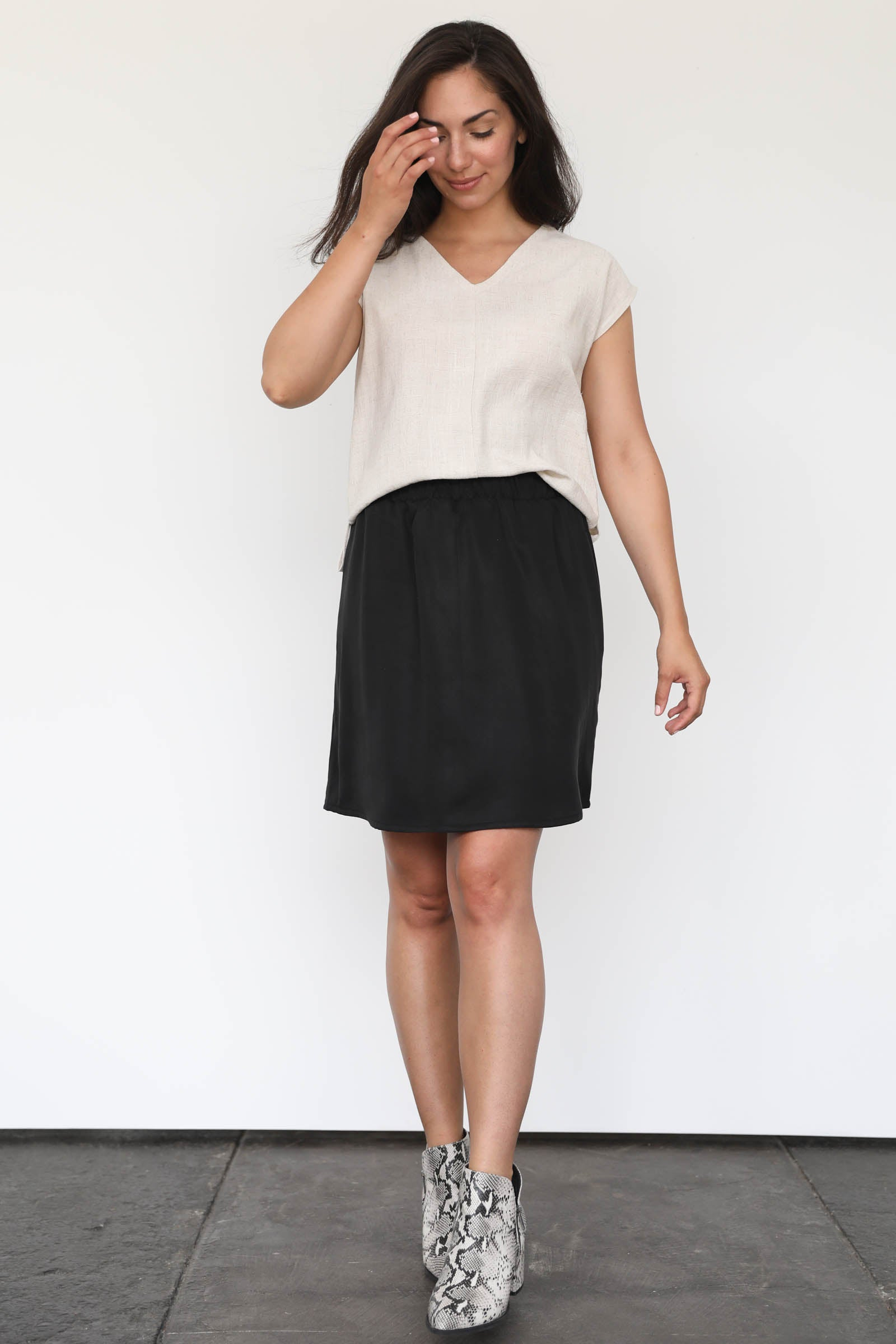 Marion Mini Skirt in Tencel