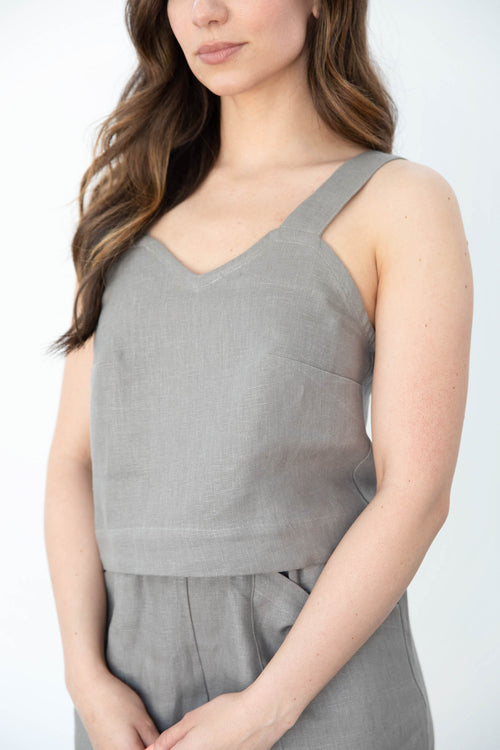 Hart Crop Tank in Linen