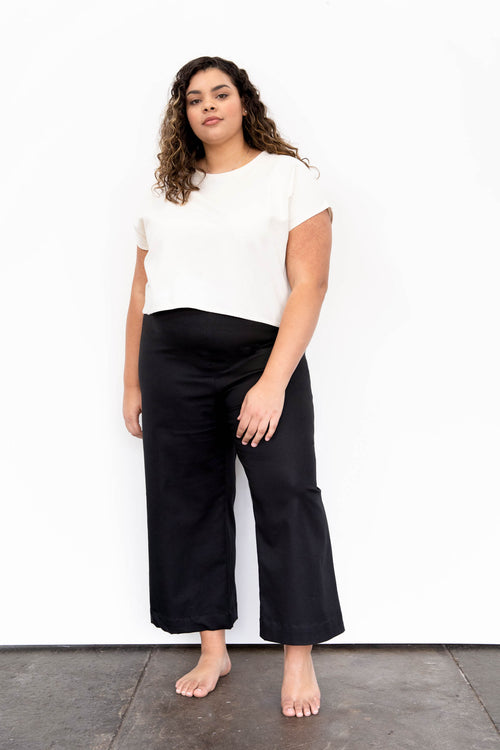 Dune Wide Leg Pants in Stretch Cotton