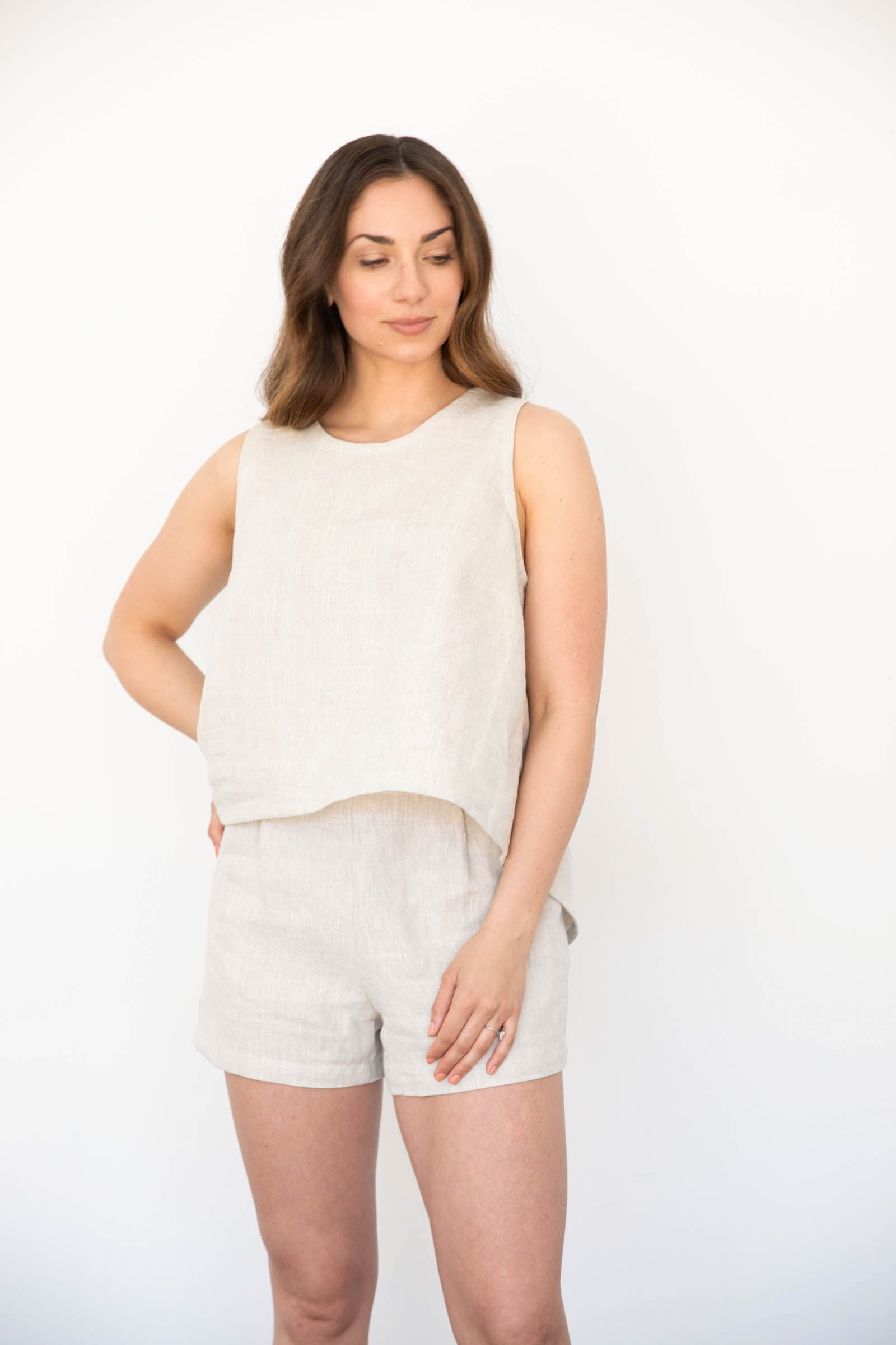 Arrow Tank in Linen