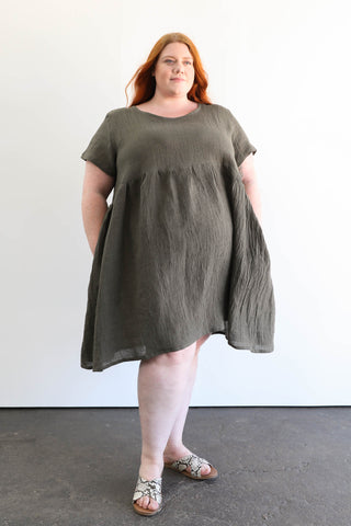 Alta Top in Linen Gauze
