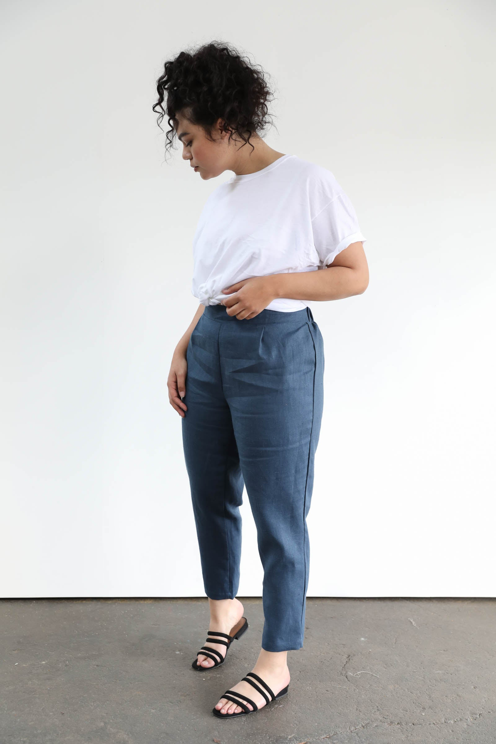 Keaton Pleated Pants in Linen