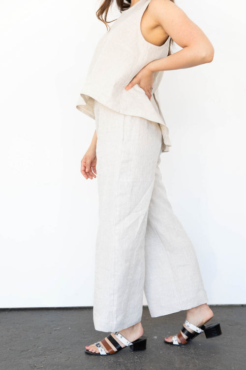 Cove Wide Leg Pants in Linen