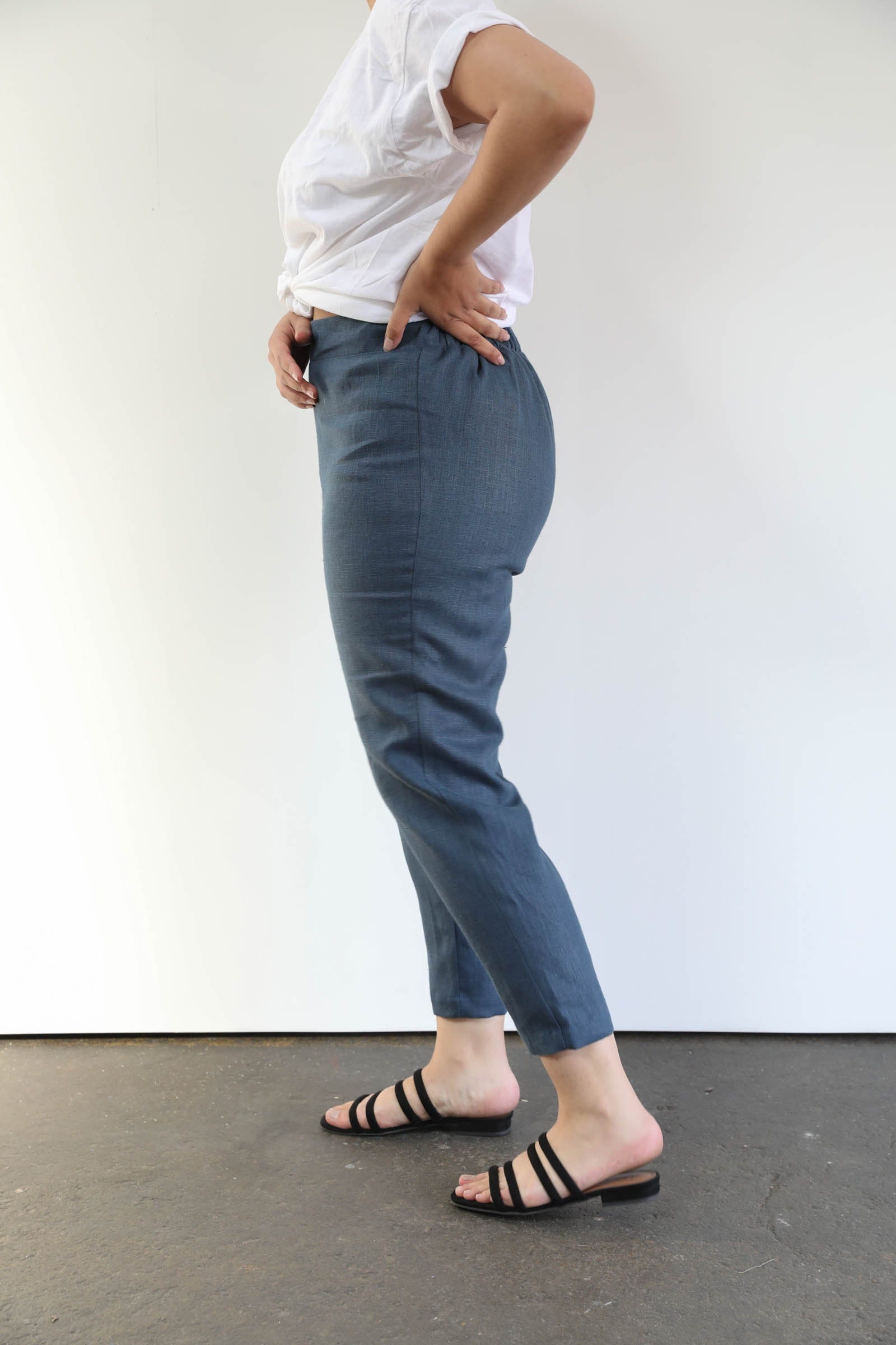 Solana Slim Leg Pants in Linen