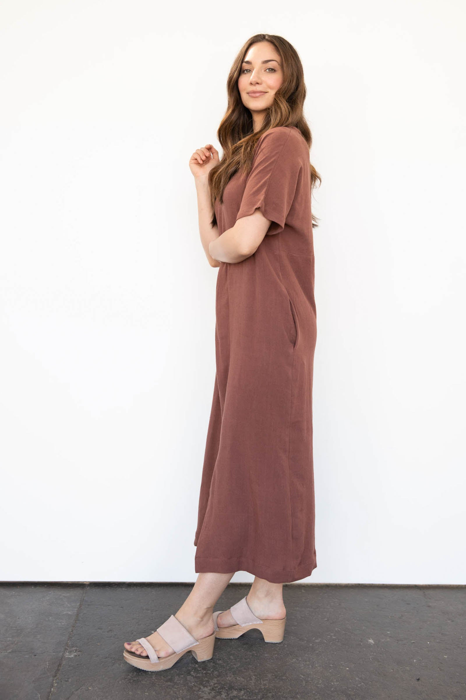 Frond Maxi Dress in Cotton