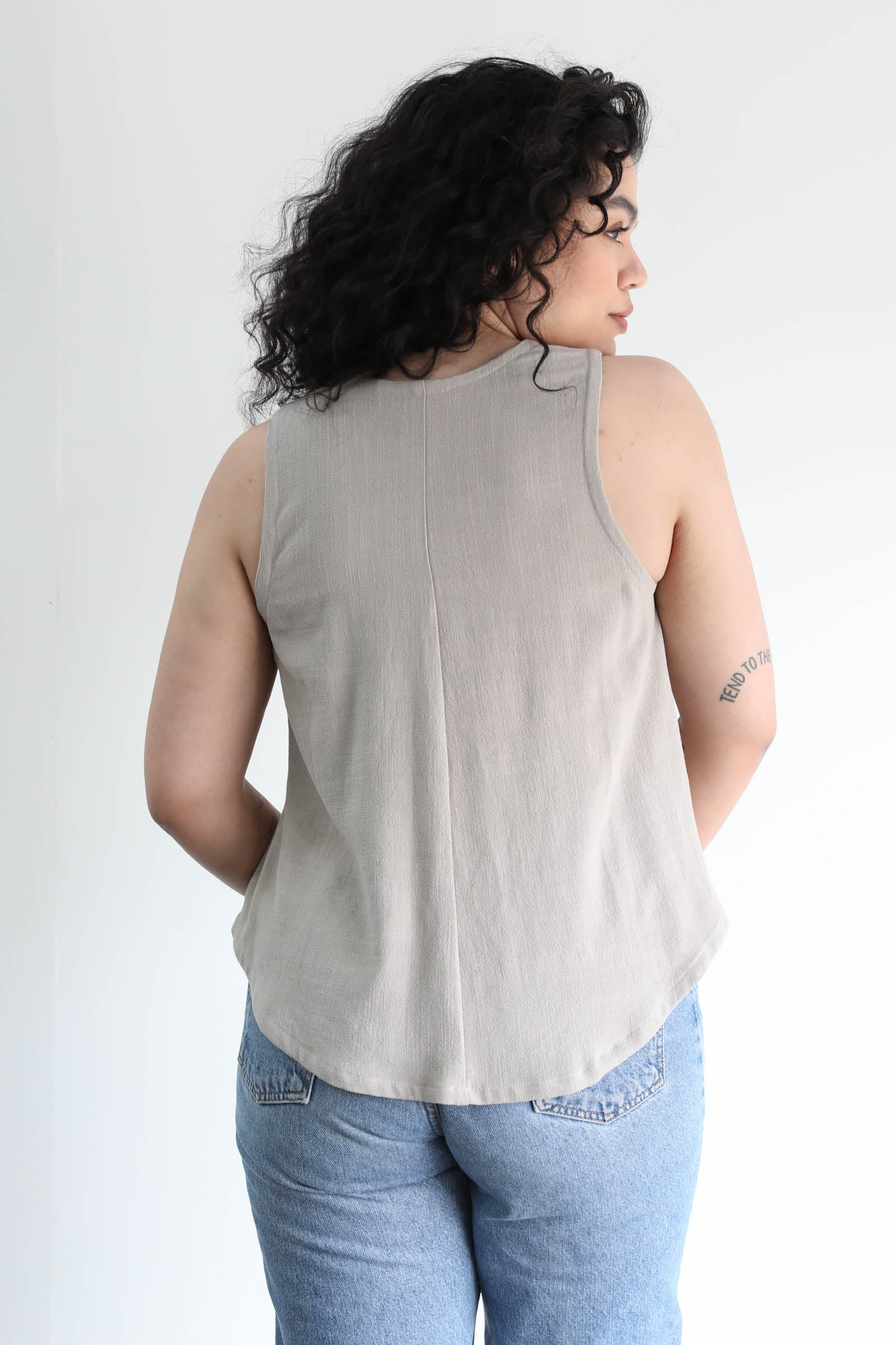 Lane Tank in Linen Gauze