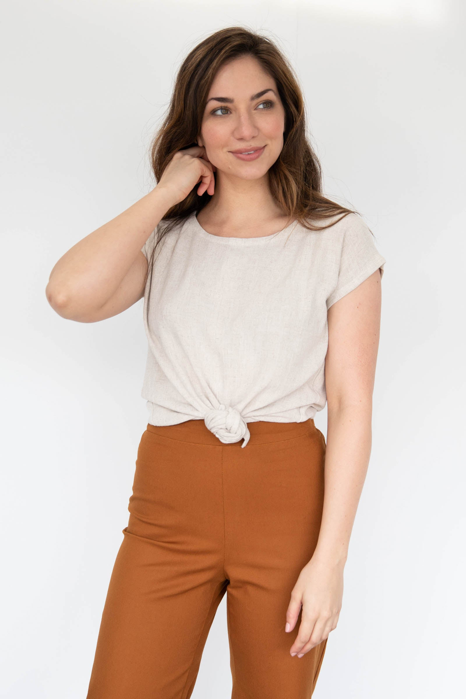 Luzon Tie Front Top in Cotton