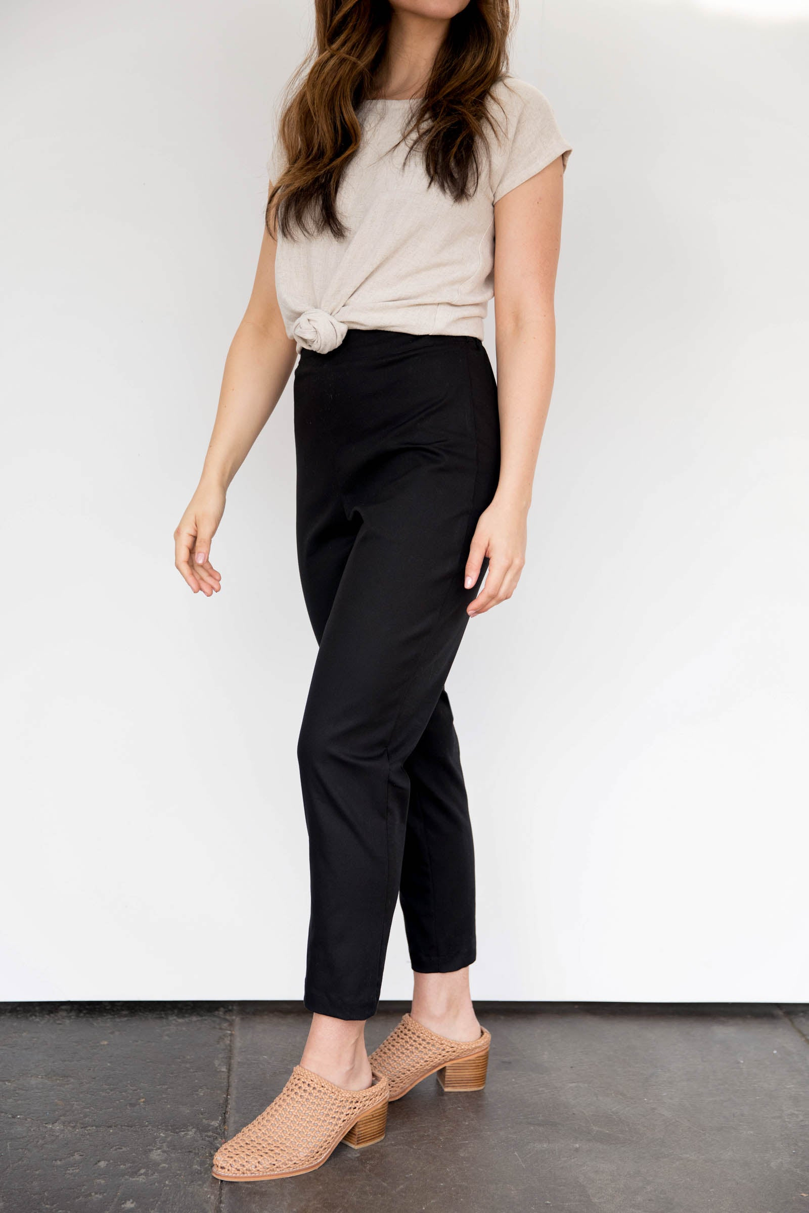 Solana Slim Leg Pants in Stretch Cotton