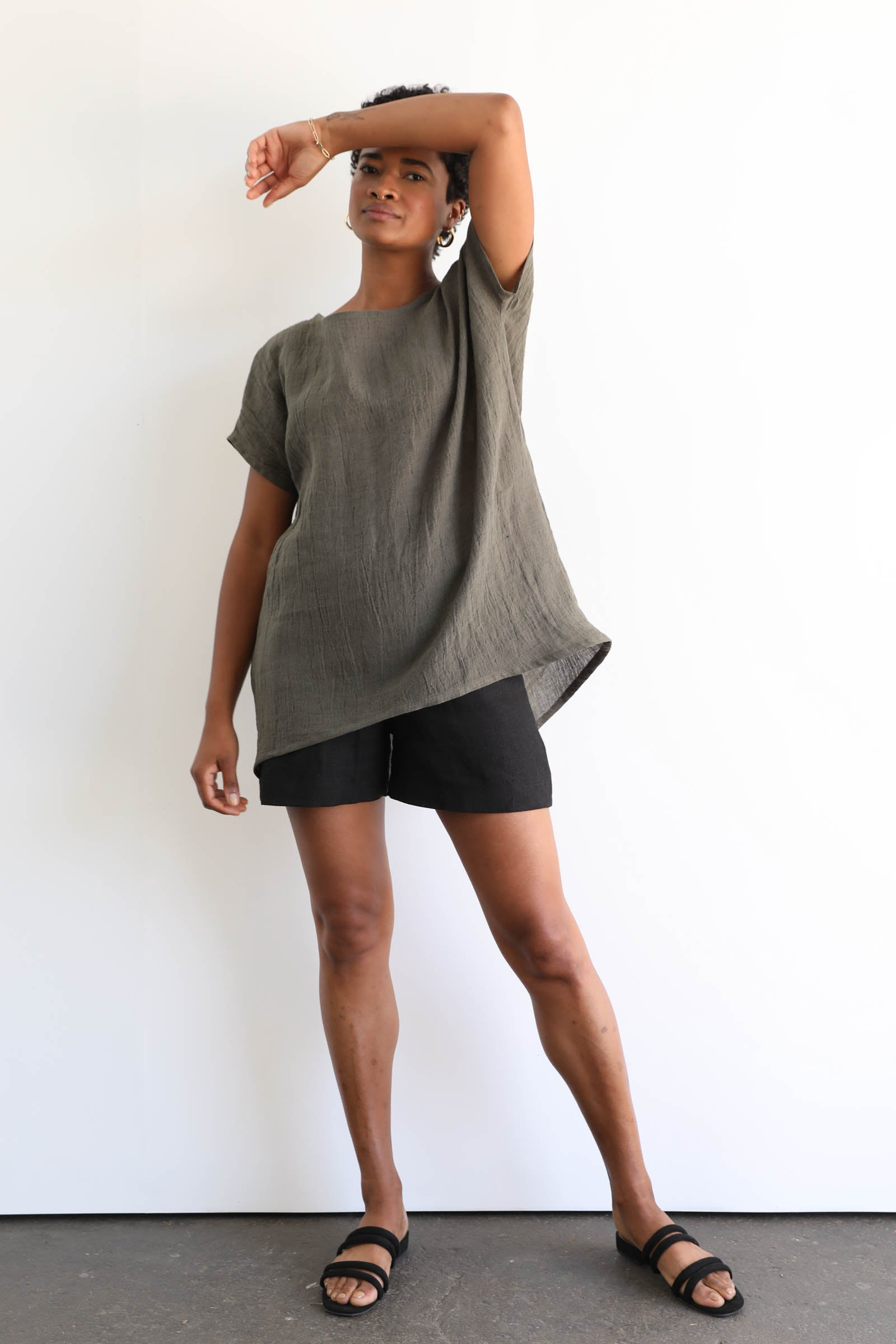 Alta Tunic in Linen Gauze