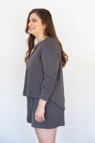 Alta Top in Raw Silk