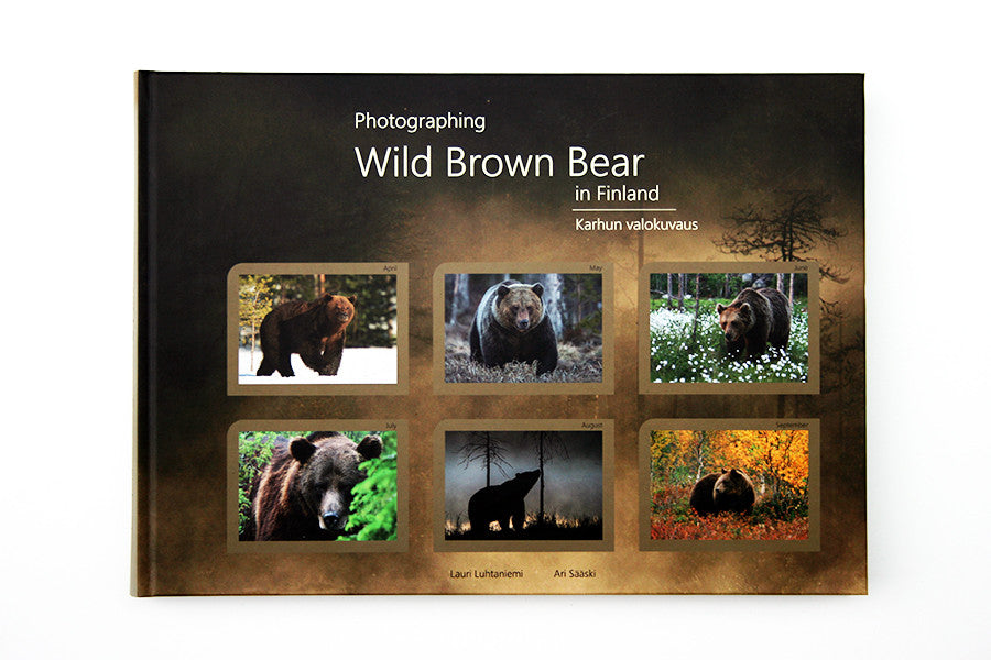 "Bear book        ""Photographing Wild Brown Bear in Finland"""