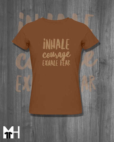 Inhale Courage Exhale Fear Tshirt March for our lives Shirt Never Again