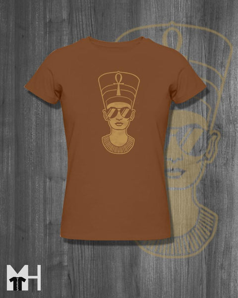 Tshirt Nefertiti Egyptian T-Shirt Afrocentric Tees and tops africa shirt cool homemade screen printed