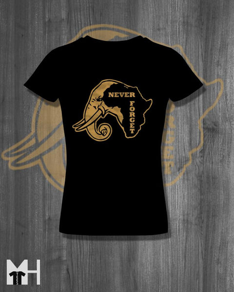 Tshirt Never Forget T-Shirt Afrocentric Tees and tops africa shirt cool homemade screen printed