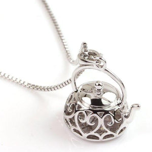 Teapot Pendant Necklace