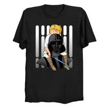 Load image into Gallery viewer, Star Wars Darth Vader & Luke - Number One Dad T Shirt