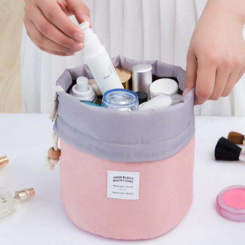 Barrel Shaped Make Up Bag