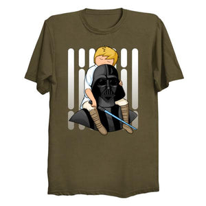 Star Wars Darth Vader & Luke - Number One Dad T Shirt