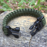 Outdoor Survival Gear Escape Paracord Bracelet Flint / Whistle/ Scraper