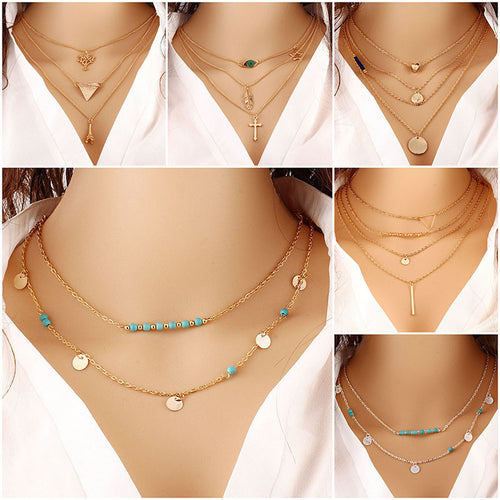 HOT for 2017 Multilayer Necklace Women