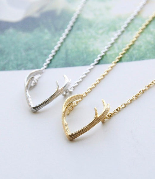 Deer Antler Necklace Necklaces & Pendants Cute Delicate Gold Choker Necklace Women Pendant Necklaces Pet Animal Charms Lead Free