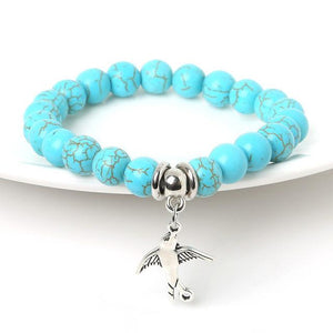 Turquoise Bracelet with charm of your choice !