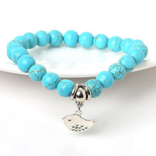 Load image into Gallery viewer, Turquoise Bracelet with charm of your choice !