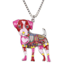 Load image into Gallery viewer, Jack Russel Dog  Enamel Necklace