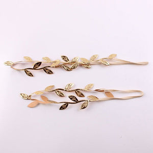 2Pcs Set Mom and Baby Gold Leaf Matching Headband