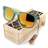 Hot Selling Women's Bamboo Polarized Sunglasses in Gift Box