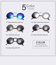 Load image into Gallery viewer, VINTAGE STEAMPUNK Round Sunglasses