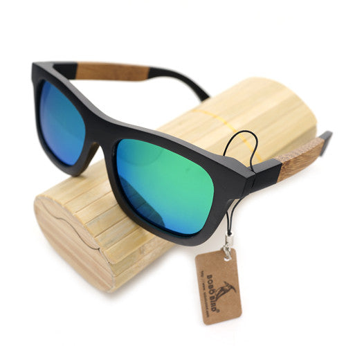 BOBO BIRD Designer Bamboo Wooden Sunglasses for Men. Comes in Decorative Box