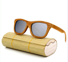 Load image into Gallery viewer, Bamboo Sunglasses Retro Wooden Frame Handmade