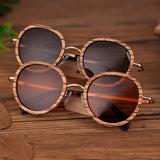 BOBO BIRD Polarized Sunglasses Wood Frame Retro look