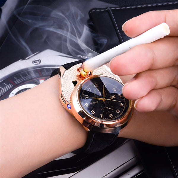 Watch with Cigarette lighter. USB Recharge