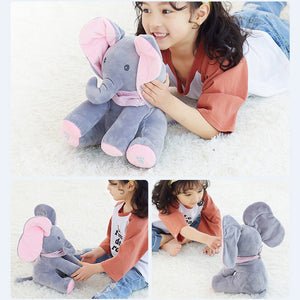 Peek-a-boo Plush Elephant Sings and Moves Ears!