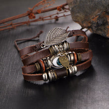 Load image into Gallery viewer, Evil Eye Owl Leather Bracelet For Women Men