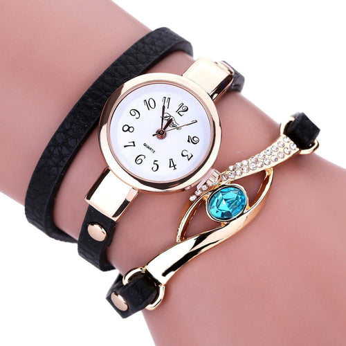 Women Eye Gemstone Luxury Quartz Watch