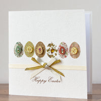 Handmade Easter Card 'Eggs Parade'